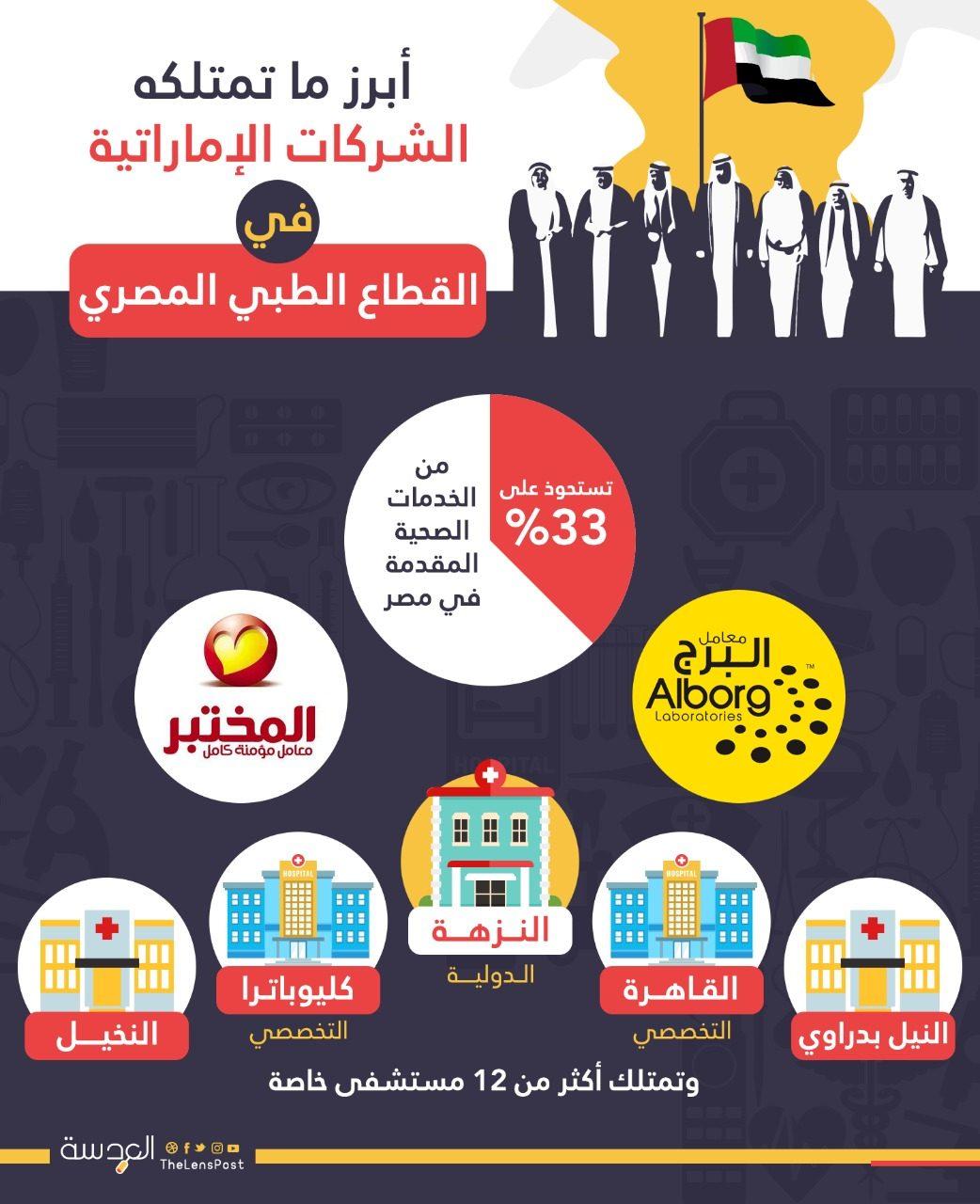 ماذا تمتلك الشركات الاماراتية في مصر