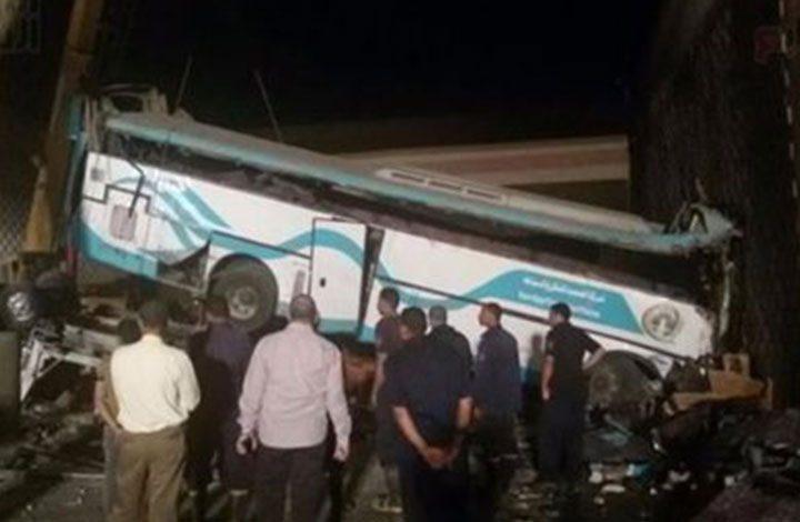 نقل جثث المتوفين العشرة في حادث بنى سويف إلى مشرحة مستشفى مصر
