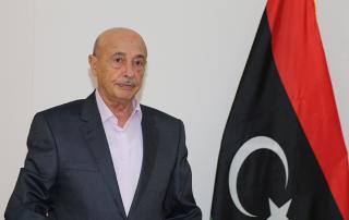 رئيس البرلمان الليبي المستشار عقيلة صالح