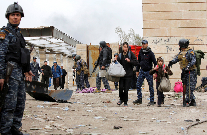 هروب المدنيين من تلعفر