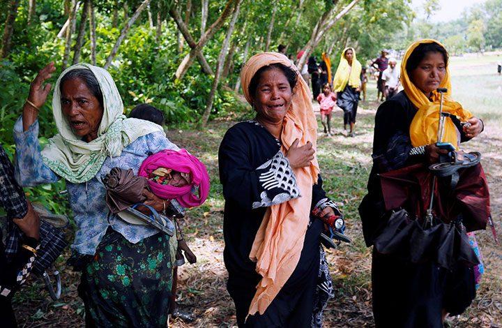 الأمم المتحدة: نزوح 270 ألف مسلم من الروهينجيا إلى بنجلاديش