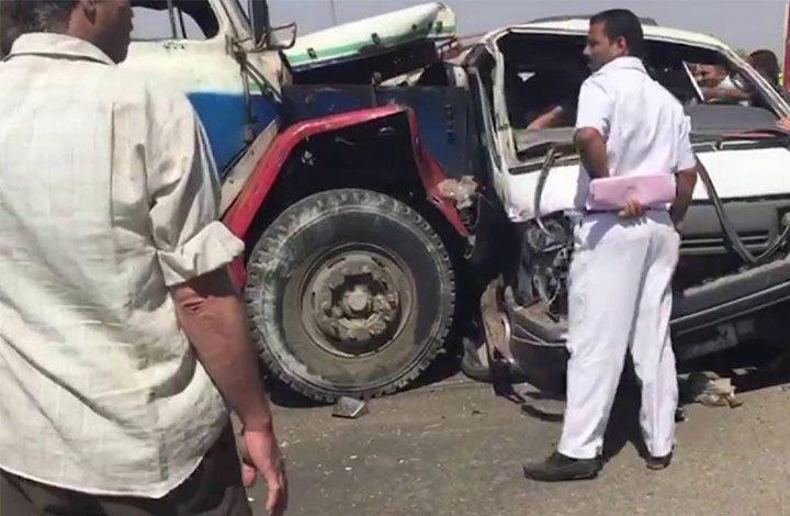 مصرع 15 مصريًا في حادث مروري بشمال الصعيد