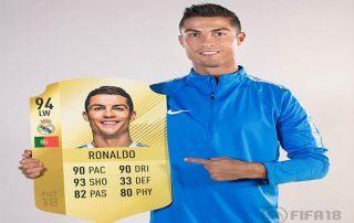 """احتفال رونالدو بعد اختياره أفضل لاعب فى """"FIFA 18"""""""