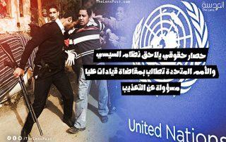"""حصار حقوقي يلاحق نظام السيسي.. و""""الأمم المتحدة"""" تطالب بمقاضاة """"قيادات عليا"""" مسؤولة عن التعذيب"""