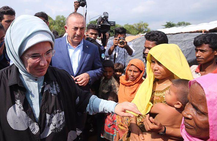 عقيلة أردوغان تزور الروهنغا في بنغلاديش