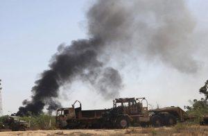 37 قتيلًا وجريحًا في قصف جوي لطيران مجهول بدرنة.. وناشطون يتهمون مصر
