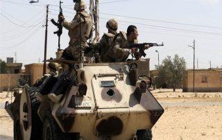 6 قتلى من الأمن المصري في هجوم مسلح على كمين بالعريش