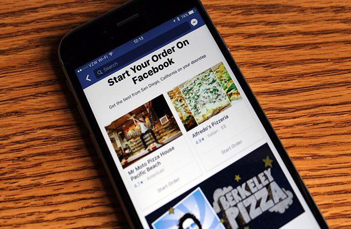 فيس بوك يطور ميزة جديدة لطلب الطعام من داخل الموقع