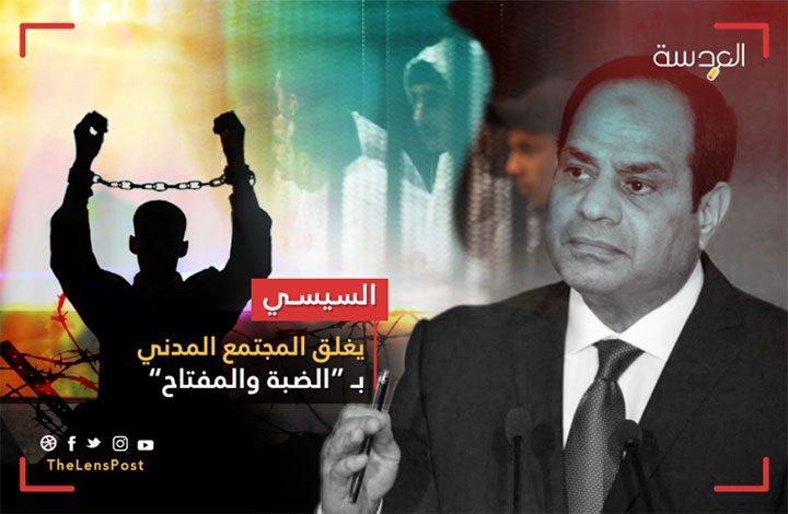 """السيسي يغلق """"المجتمع المدني"""" بـ """"الضبة والمفتاح"""".. ناجون ومغضوب عليهم.. وفقراء يدفعون الثمن"""