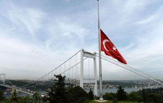تركيا تنكس أعلامها وتعلن الحداد الوطني تضامنا مع ضحايا مسجد الروضة في مصر