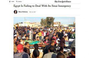 نيويورك تايمز: حادث العريش فشل مأسوي للسيسي
