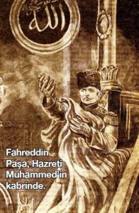 صورة فخر الدين باشا في الروضة الشريفة