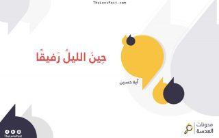 آية حسين تكتب: حِينَ الليلُ رَفيقًا