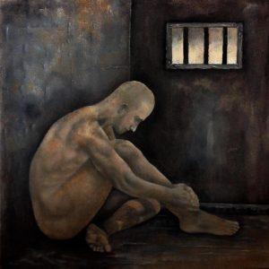 معتقل داخل الزنزانه