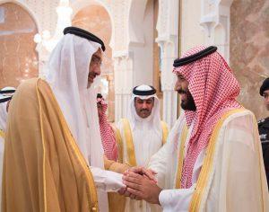 لقاء عبد الله آل ثاني مع محمد بن سلمان