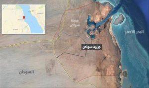 خريطة توضح قرب الجزيرة من حلايب وشلاتين