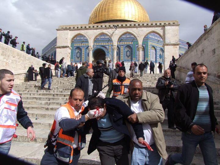 صورة عن انتهاكات إسرائيل بالمسجد الأقصى