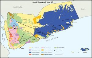 خريطة تظهر حدود المهرة