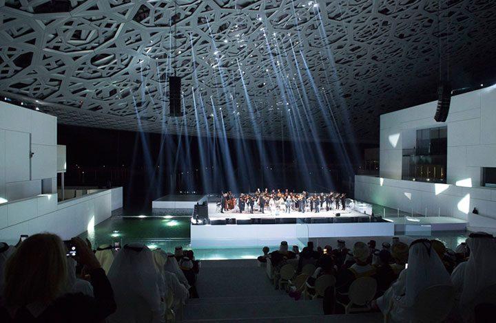"""الإمارات تزيل قطر من خارطة للخليج العربي بمتحف """"اللوفر أبو ظبي"""""""
