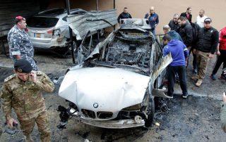 """التعرف على هوية منفذي تفجير موكب قيادي """"حماس"""" في لبنان"""