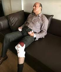 هشام جنينة بعد الاعتداء عليه