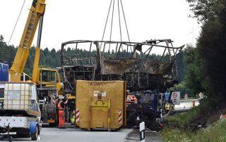 مصرع 52 شخصًا في حريق على متن حافلة في كازاخستان