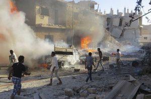 45 قتيلا و60 جريحا في انفجار بإدلب وقصف في ريف دمشق