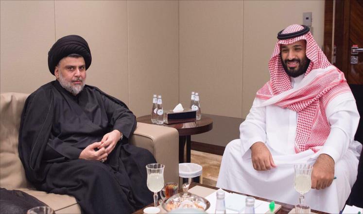 مقتدى الصدرمع بن سلمان في زيارته للسعودية