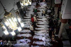 جثث الضحايا بمسجد الإيمان
