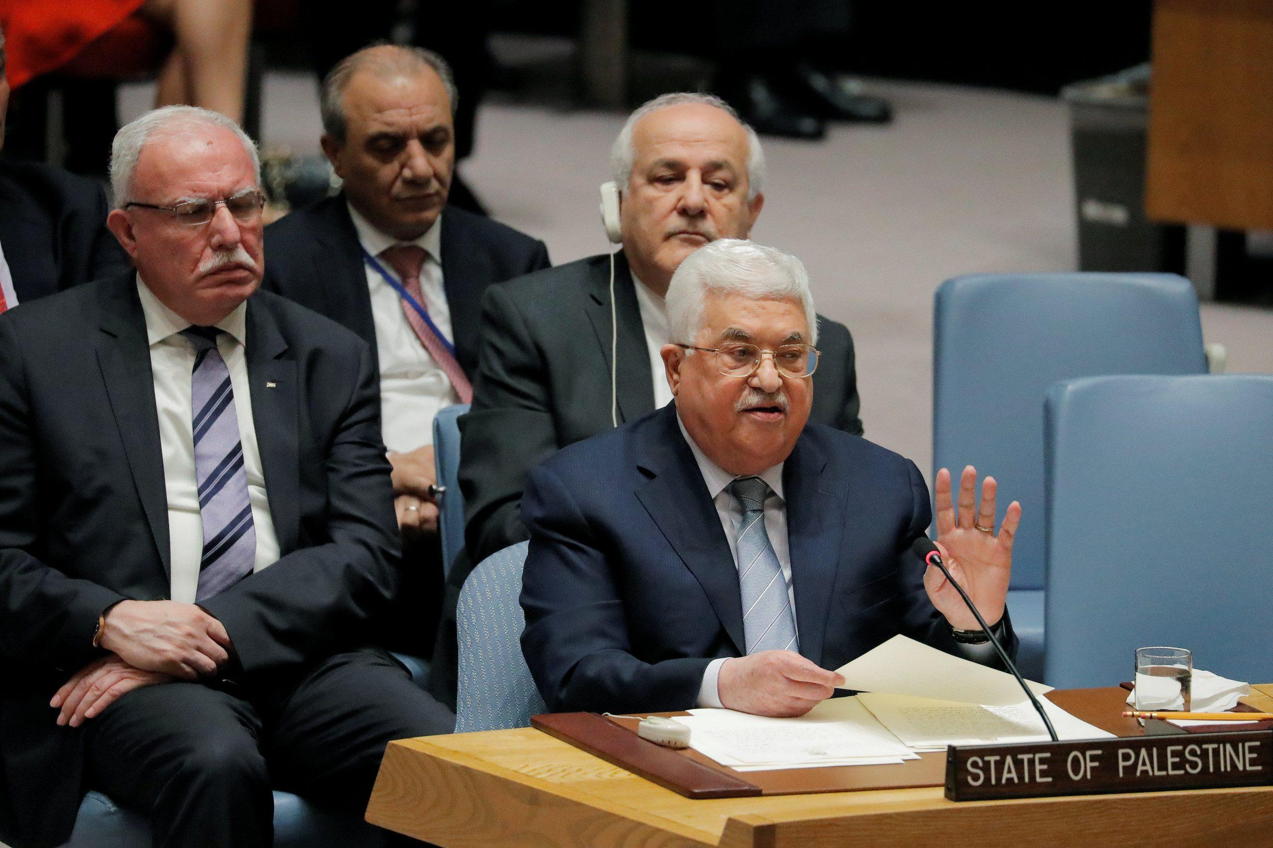 """""""محمود عباس"""" بمجلس الأمن"""