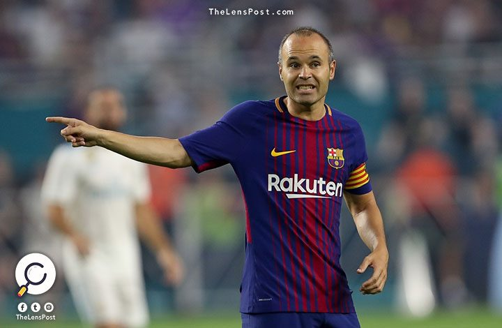"""إنيستا: قرارات الحكم الخاطئة تسببت في تعادل """"برشلونة"""" مع لاس بالماس"""