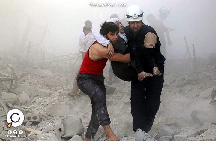 النظام السوري يهاجم الغوطة الشرقية بالكلور