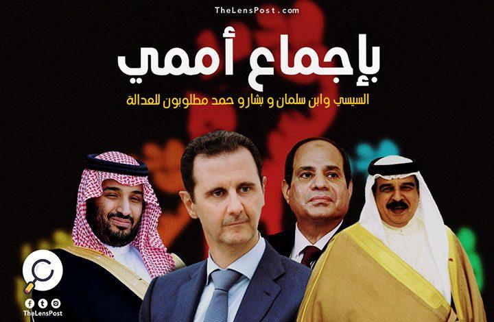 """بإجماع أممي.. """"السيسي"""" و""""ابن سلمان"""" و""""بشار"""" و""""حمد"""" مطلوبون للعدالة"""