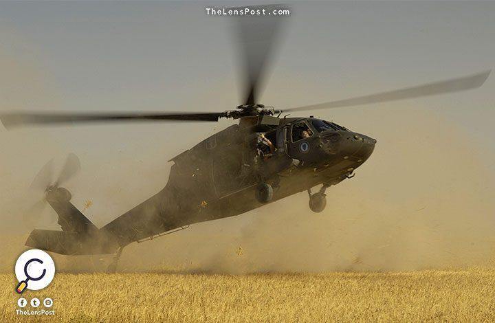 تقل 7 عسكريين.. تحطم مروحية أمريكية بالقرب من الحدود السورية العراقية