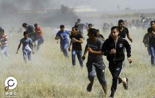 قرب السياج الأمني.. مواجهات بين عشرات الفلسطينيين والجيش الإسرائيلي