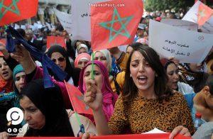 مسيرة نسائية في جرادة المغربية تطالب بتحسين أوضاعهن