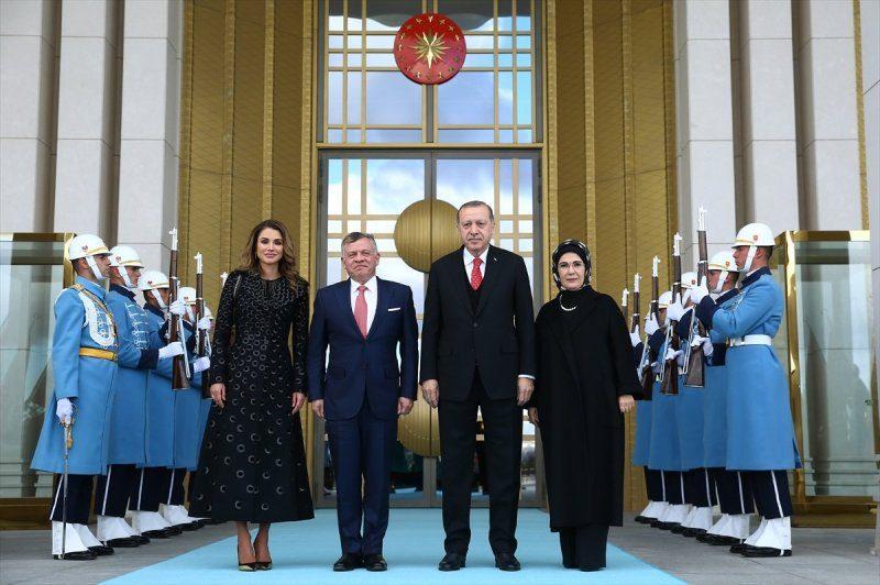 استقبال أردوغان للملك عبدالله الثاني في ديسمبر الماضي