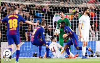برشلونة يهزم روما