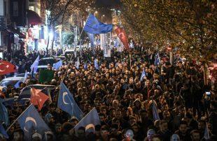 مظاهرة-في-تركيا-احتجاجا-على-قمع-مسلمي-الأويغور-في-الصين
