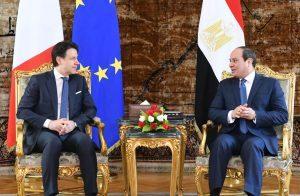 السيسي-يستقبل-رئيس-وزراء-إيطاليا-لبحث-الأزمة-الليبية