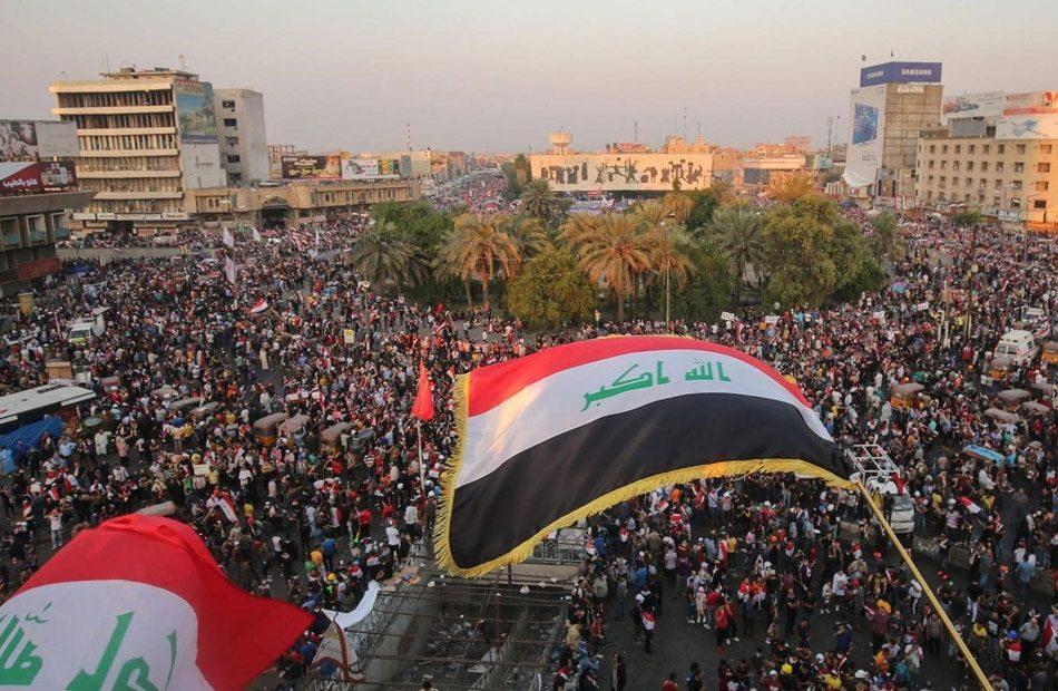 تجدد-التظاهرات-في-العراق-بهتافات-ضد-أمريكا-وإيران