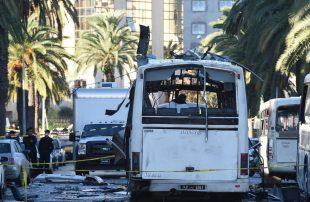 تفجير-حافلة-أمن-رئاسي-تونس