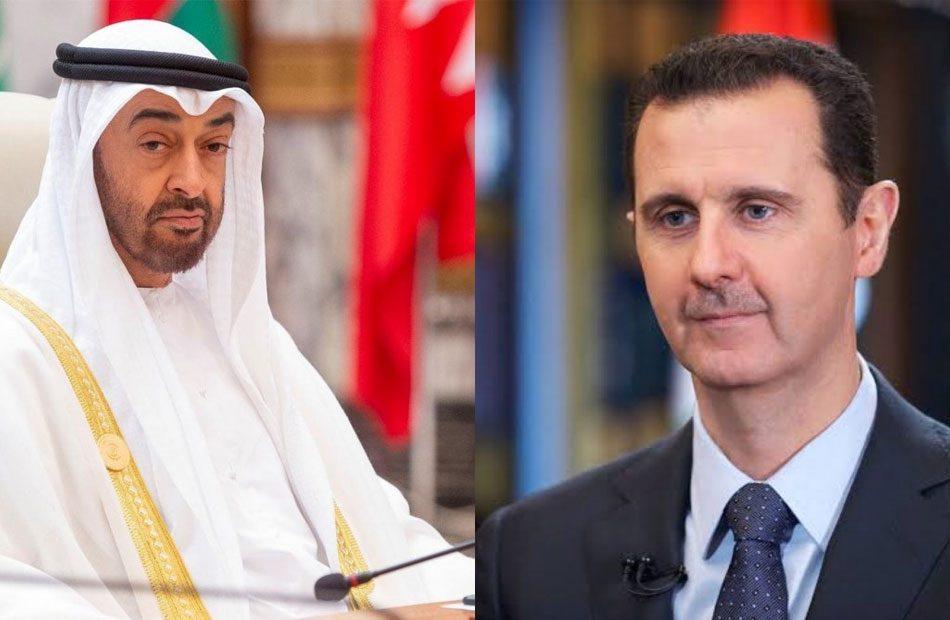 لأول مرة معلنة منذ سنوات .. اتصال بين بن زايد وبشار الأسد