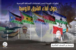 تطورات كورونا تتصدر اهتمامات الصحافة الفرنسية حول أنباء الشرق الأوسط
