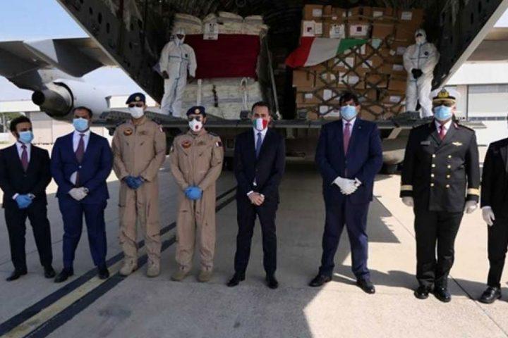 29-طنا-شحنة-مساعدات-قطرية-لنجدة-إيطاليا-من-كورونا