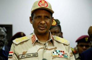 """""""حميدتي"""" يفضح صفقة الـ 3 مليار دولار لـ """"دعم السودان"""