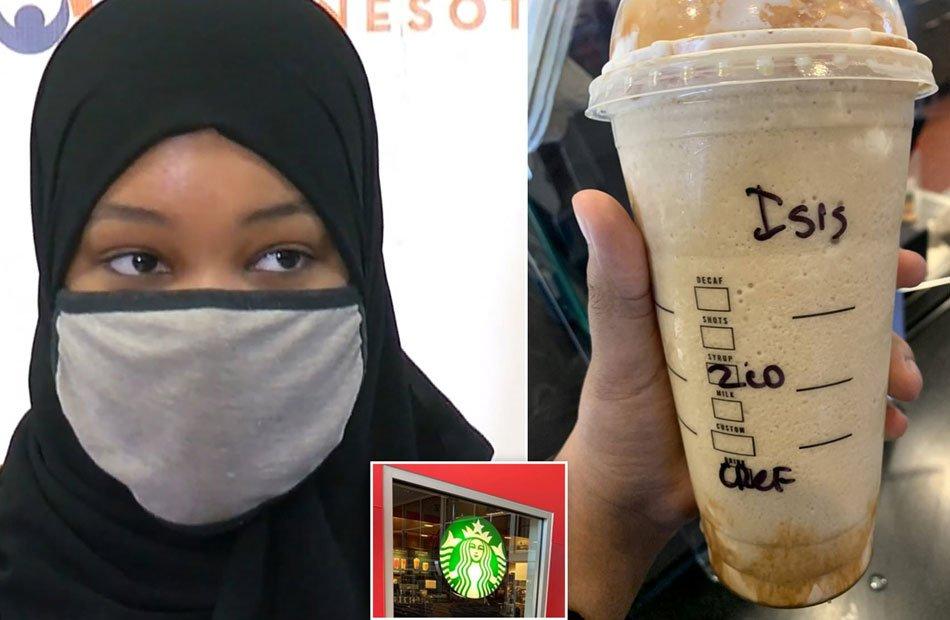 """عنصرية أمريكية .. مسلمة تقاضي """"ستاربكس"""" بعدما كتبوا لها """"داعش"""" على كوبها"""
