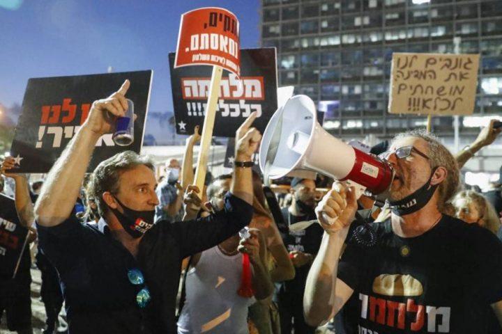 """""""دعونا نتنفس""""..آلاف الإسرائيليين يتظاهرون ضد نتنياهو والإغلاق الاقتصادي مع كورونا"""
