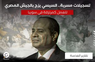 تسجيلات مسربة.. السيسي يزج بالجيش المصري للعمل كمرتزقة في سوريا