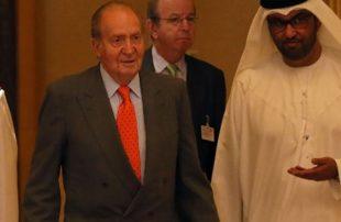 أول ظهور لملك إسبانيا الهارب مع مسؤولين رسميين في الإمارات .. فيديو